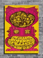 THE DOORS - Live at the Fillmore canvas print - self adhesive poster - photo print